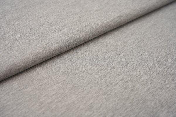 Baumwoll-Jersey einfarbig uni hellgrau meliert