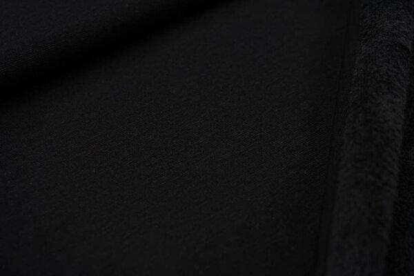 Kuscheliger Alpenfleece uni schwarz Kuschelsweat
