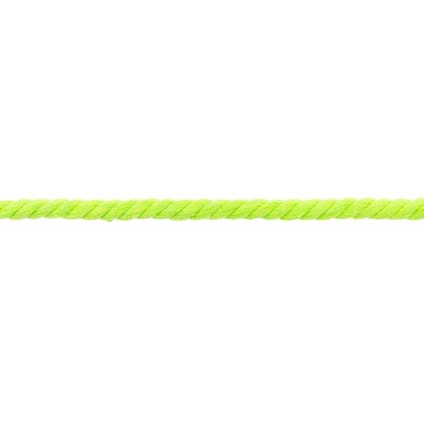 Baumwoll-Kordel gedreht rund uni limettengrün neon 8 mm breit