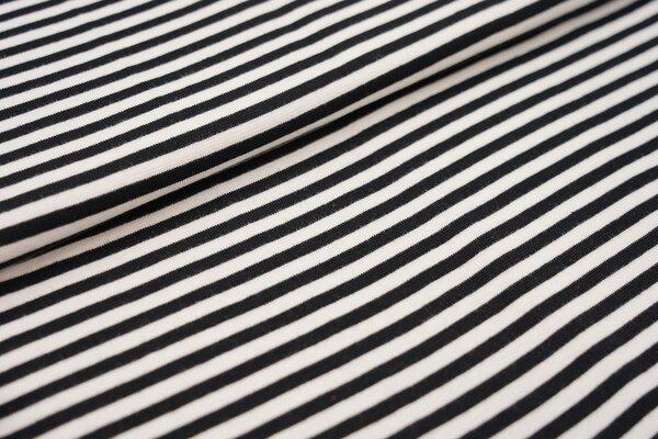 Ringelbündchen glatt Streifen weiss / schwarz