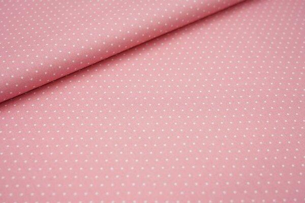 Baumwolle weiße Punkte auf pastell altrosa