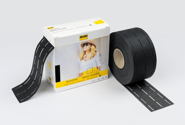 Vlieseline Bundfix Bundeinlage für 25 mm breiten Rock- oder Hosenbund grafit