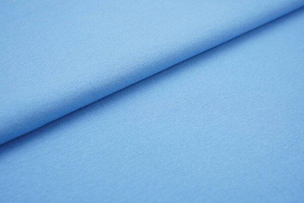 XXL Bündchen LILLY glatt Schlauchware dunkel babyblau