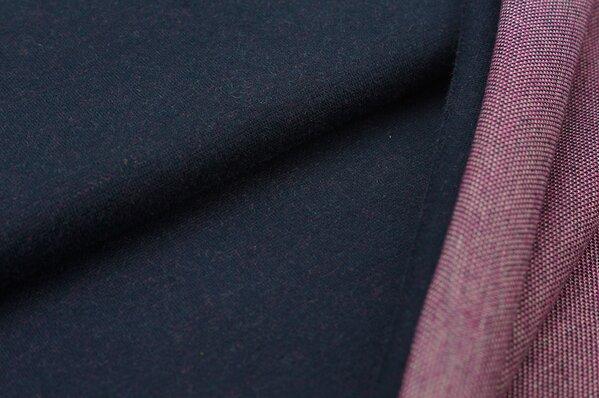 Jacquard-Sweat Ben navy blau Uni mit navy blau / off white / amarant pink Rücks.