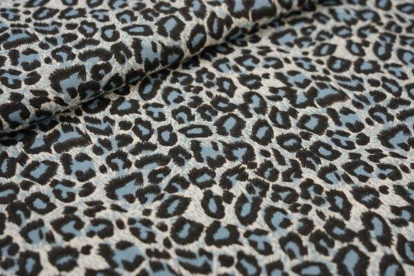 Dekostoff Canvas Leopardenfell Muster blau / schwarz