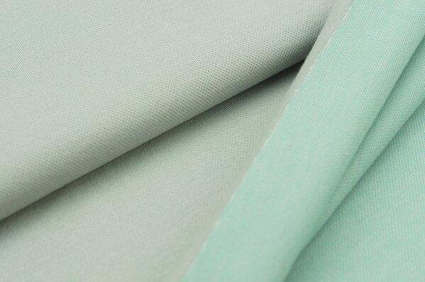Jacquard-Sweat Ben hellgrau Uni mit hellgrau mint und off white Rückseite