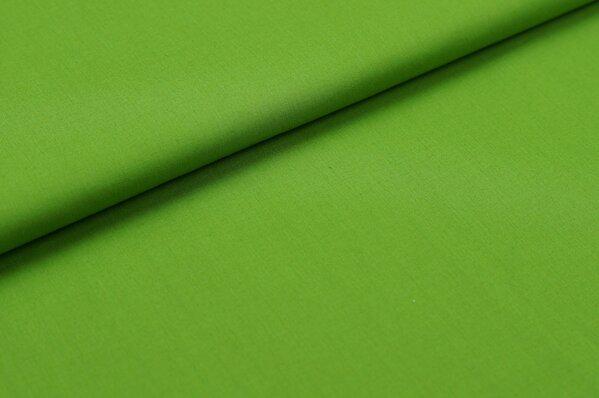 Baumwollstoff Baumwolle uni grasgrün