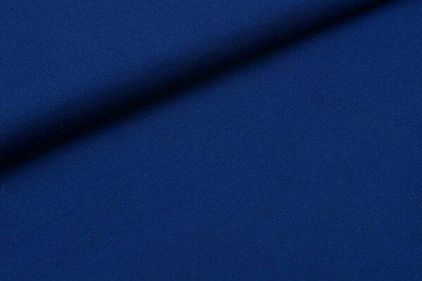 Baumwoll-Jersey uni marineblau