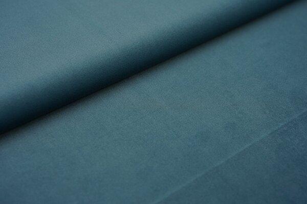 Samtiger Velours Dekostoff Velvet einfarbig uni jeansblau taupeblau