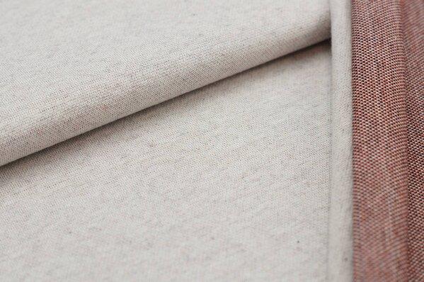 Jacquard-Sweat Ben off white Uni mit rostorange schwarz und off white Rückseite