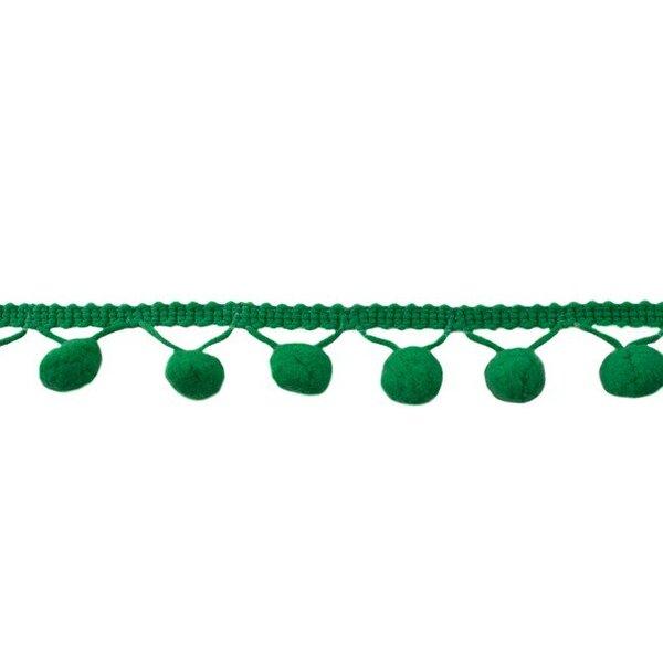 Bommelborte uni grün 24 mm
