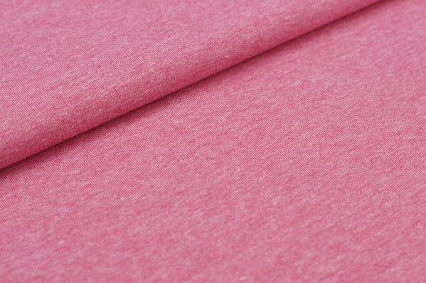 Baumwoll-Jersey uni pink meliert