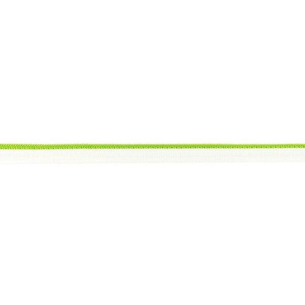 Duo Paspelband zweifarbige Streifen weiß / limettengrün