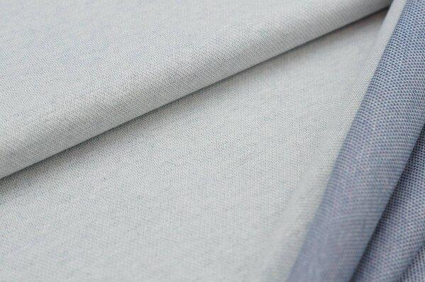 Jacquard-Sweat Ben off white Uni mit taupe blau / altrosa / eisblauer Rückseite