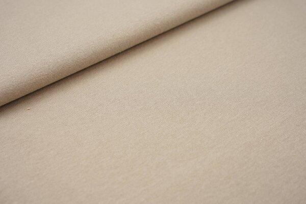 Glattes Glitzer Bündchen beige hellbraun mit silber