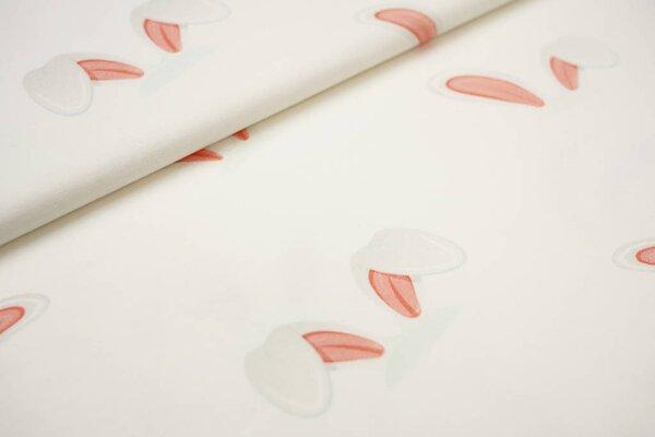Baumwoll-Jersey Digitaldruck große Hasenohren auf off white