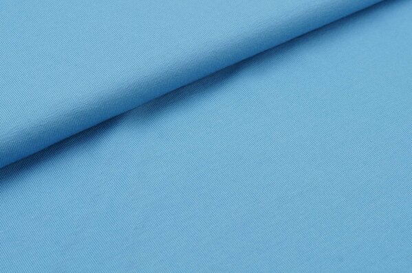 Baumwoll-Jersey uni hellblau