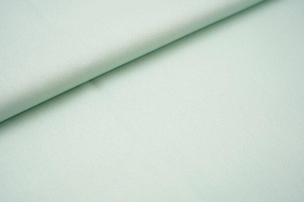 Canvas-Stoff Baumwoll Dekostoff einfarbig uni mint