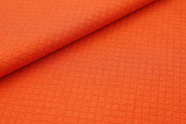 Baumwoll Stepp-Stoff uni mit Rauten Muster Double Face rostorange