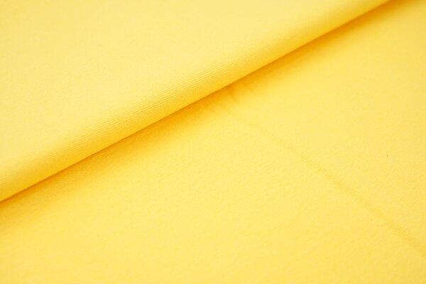 Bündchen glatt uni gelb