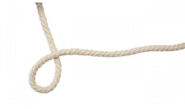 Dicke Baumwoll-Kordel gedreht rund uni hell beige natur 10 mm breit