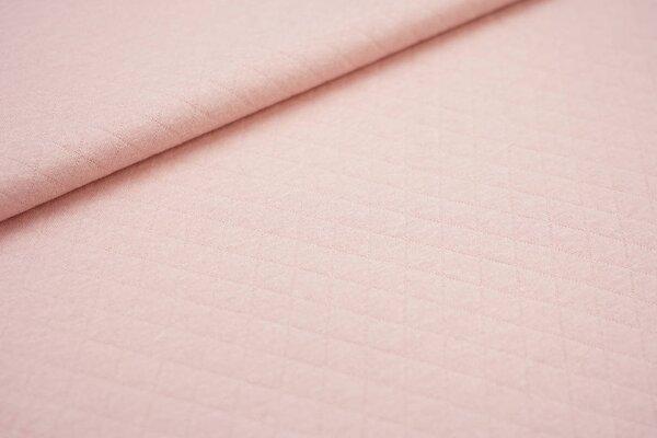 Baumwoll Stepp-Stoff uni mit Rauten Muster lachs