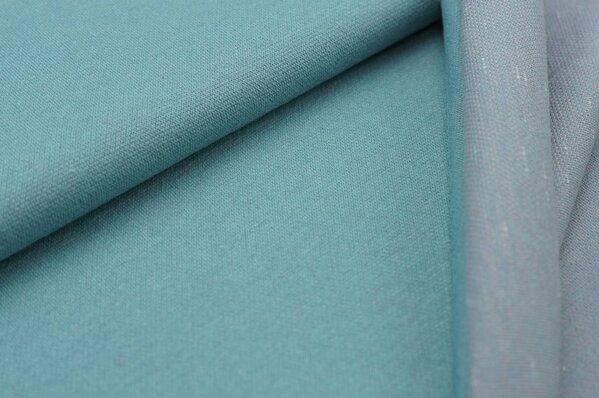 Jacquard-Sweat Ben eisblau Uni mit eisblau und altrosa / off white Rückseite