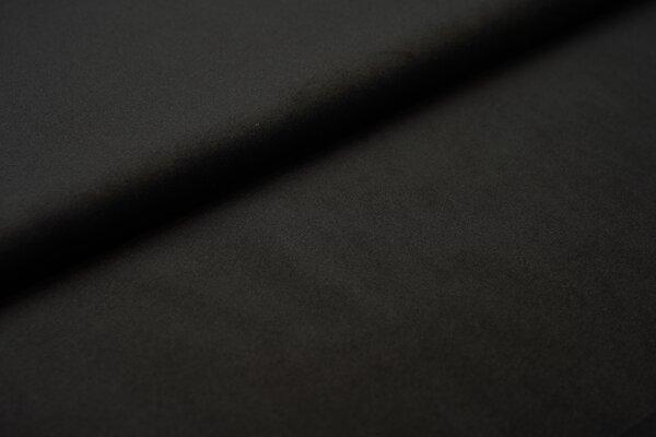 Samtiger Velours Dekostoff Velvet einfarbig uni schwarz