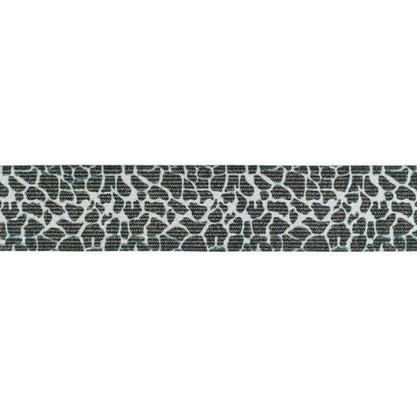 Gummiband mit Tierdruck und Glitzer Giraffen Fell hellbraun 35 mm breit