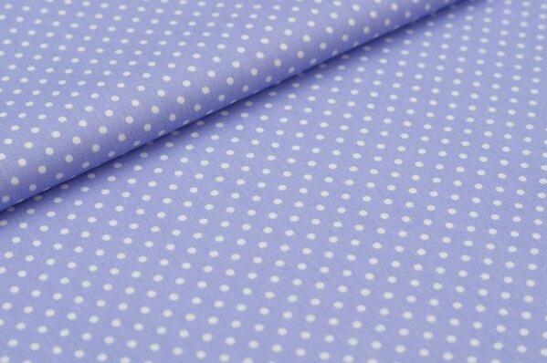 Baumwollstoff Baumwolle kleine Punkte hell lila / weiß