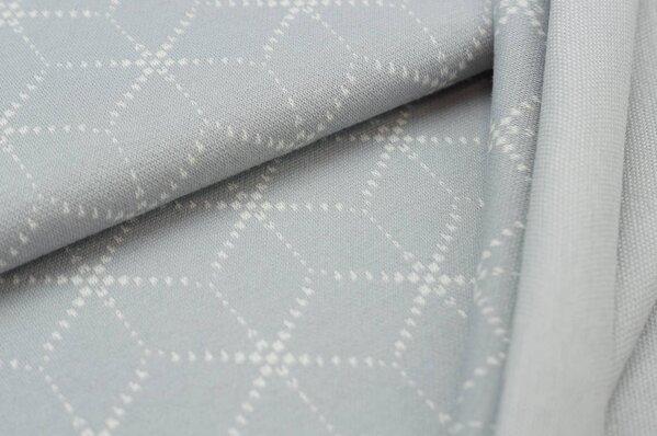 Jacquard-Sweat Ben off white Geometrie Muster Würfel Blöcke auf hellgrau