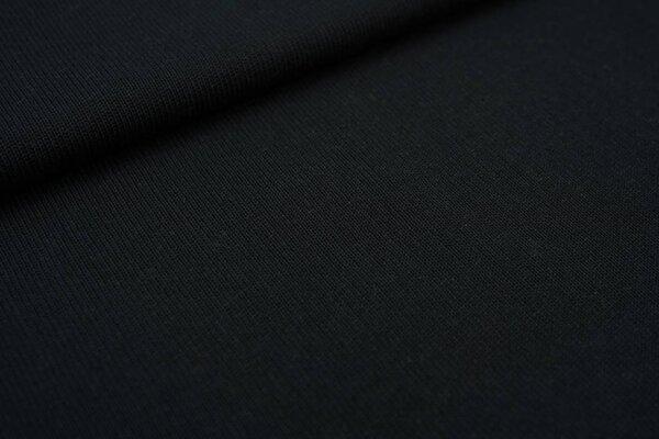 Baumwoll Strickstoff uni schwarz Strickware