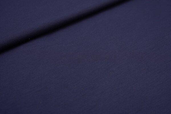Fester Jerseystoff Romanit Jersey uni marineblau