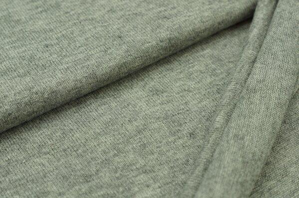 Strickstoff grau weiß meliert