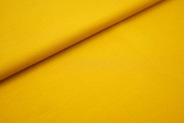 Baumwoll-Jersey einfarbig uni senfgelb