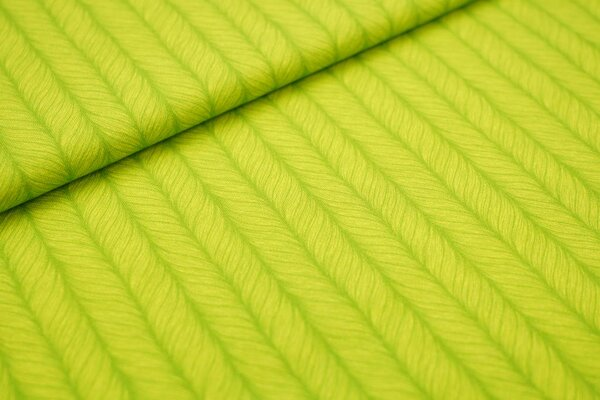 Baumwoll-Jersey Digitaldruck großes Zopfmuster grün / hellgrün