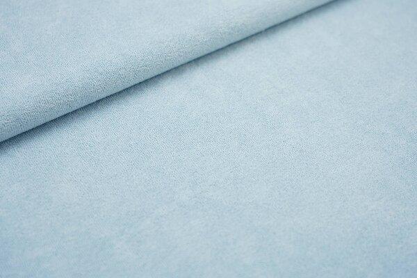 Stretch Frottee uni hellblau dünner elastischer Frotteestoff