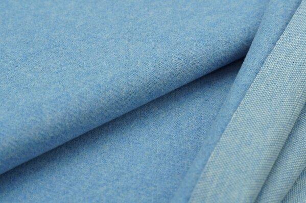 Kuschel Jacquard-Sweat Moritz pastell jeansblau Melange Uni