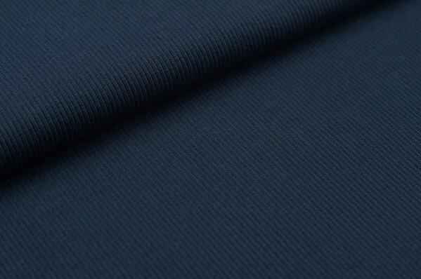 XXL Bündchen LILLY gerippt Schlauchware blaugrau