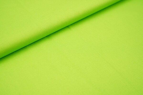 Canvas-Stoff Baumwoll Dekostoff einfarbig uni limettengrün