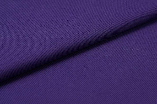 XXL Bündchen LILLY gerippt Schlauchware lila / violett