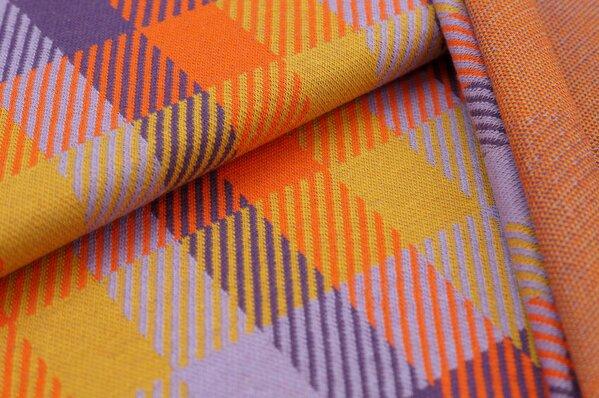 Jacquard-Sweat Ben Karos lila / hell lila / orange / senf
