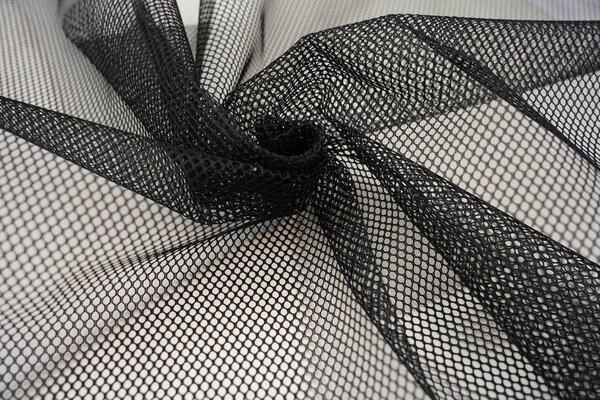 Netz Stoff uni schwarz