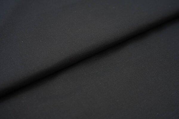 Baumwollstoff Baumwolle uni schwarz