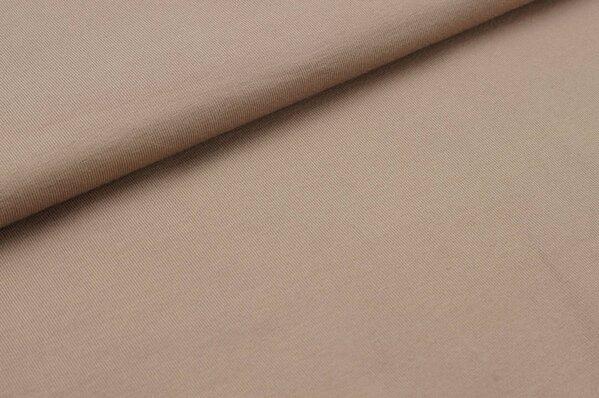 Baumwoll-Jersey uni braunbeige
