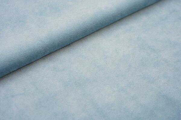 Nicki Stoff uni helles jeansblau