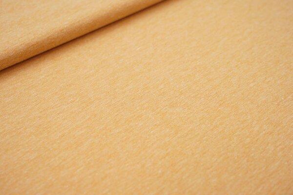 Baumwoll-Jersey uni gelborange meliert