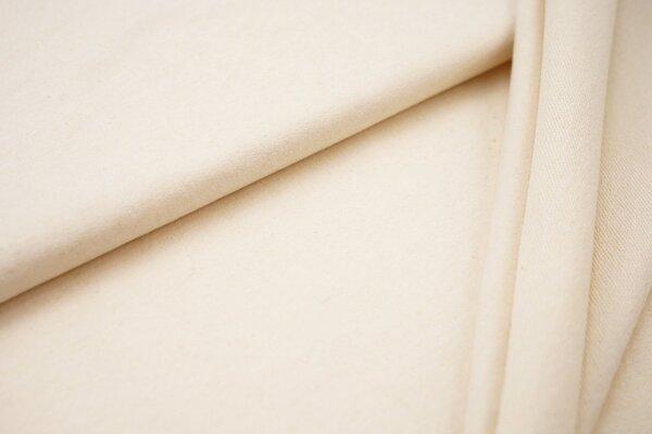 Baumwoll-Sweat Recycelt einfarbig uni creme off white meliert