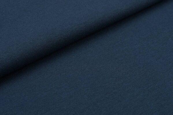 XXL Bündchen LILLY glatt Schlauchware blaugrau