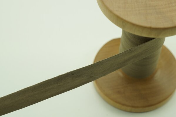 Schrägband Baumwolle 1,5 cm breit uni beige 1 m